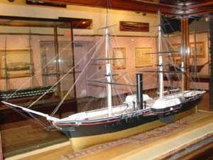 Image of model in Navy Museum - USS Powhatan