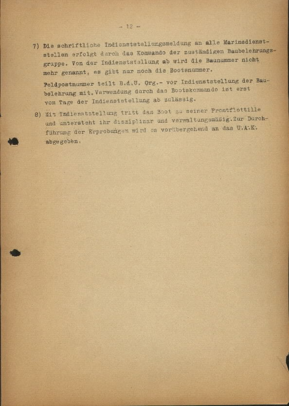 Guide for U-Boat Officers Concerning New U-Boat Orders for the Frontline - page 12