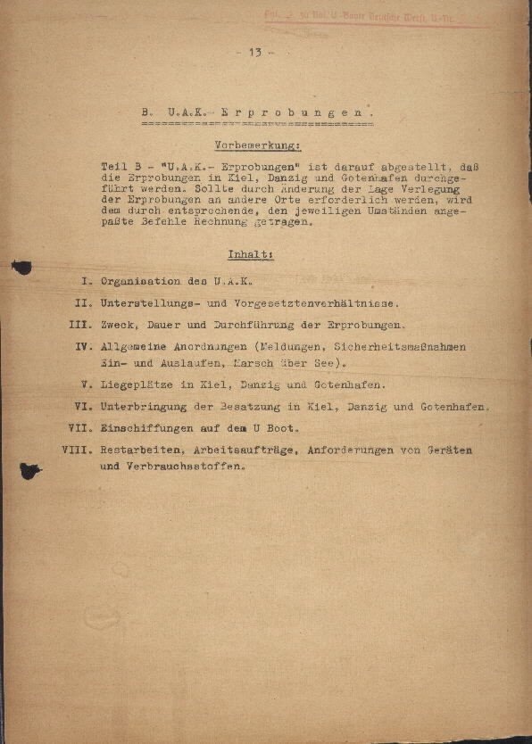 Guide for U-Boat Officers Concerning New U-Boat Orders for the Frontline - page 13