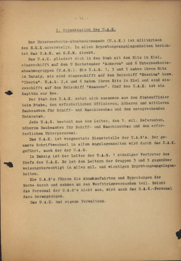 Guide for U-Boat Officers Concerning New U-Boat Orders for the Frontline - page 14