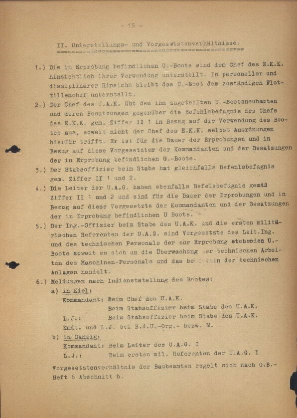 Guide for U-Boat Officers Concerning New U-Boat Orders for the Frontline - page 15