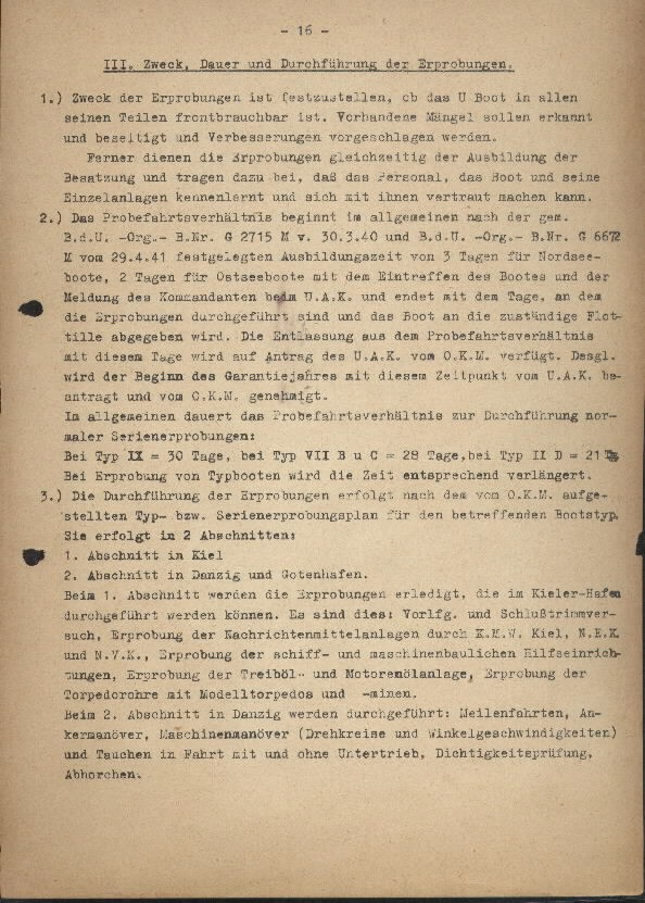 Guide for U-Boat Officers Concerning New U-Boat Orders for the Frontline - page 16