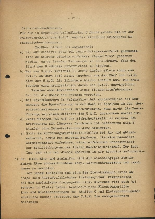 Guide for U-Boat Officers Concerning New U-Boat Orders for the Frontline - page 21