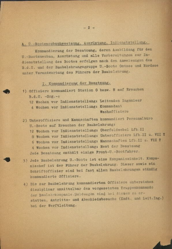 Guide for U-Boat Officers Concerning New U-Boat Orders for the Frontline - page 2