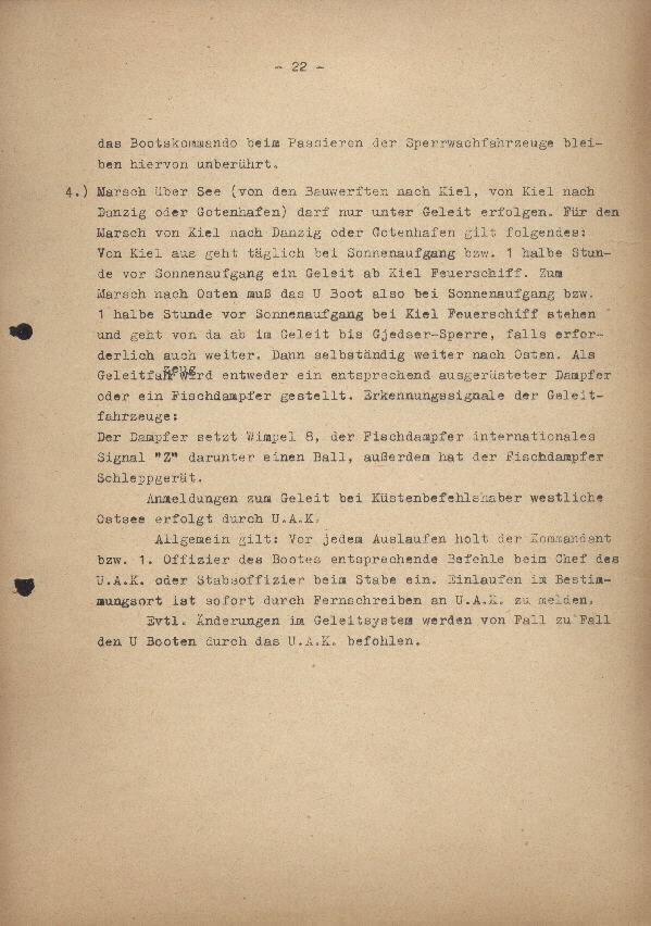 Guide for U-Boat Officers Concerning New U-Boat Orders for the Frontline - page 22