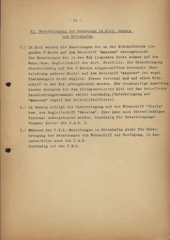 Guide for U-Boat Officers Concerning New U-Boat Orders for the Frontline - page 24
