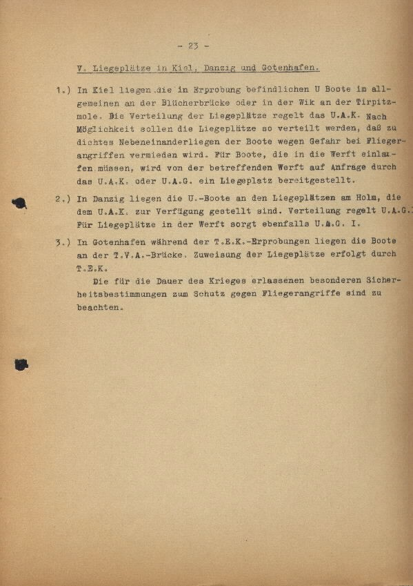 Guide for U-Boat Officers Concerning New U-Boat Orders for the Frontline - page 23