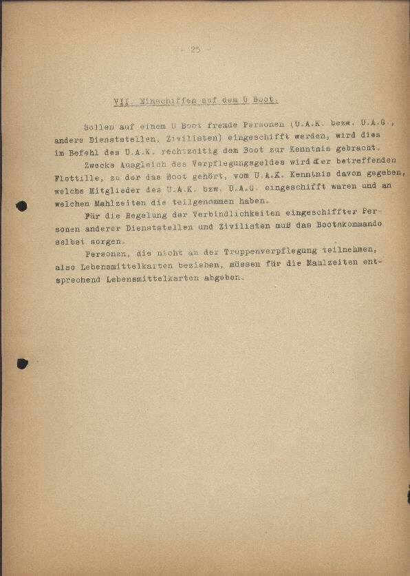 Guide for U-Boat Officers Concerning New U-Boat Orders for the Frontline - page 25