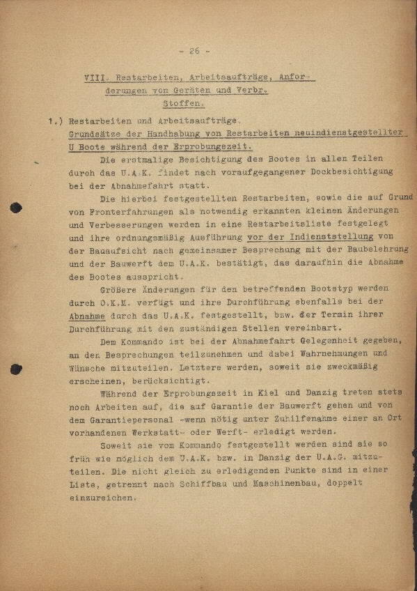 Guide for U-Boat Officers Concerning New U-Boat Orders for the Frontline - page 26