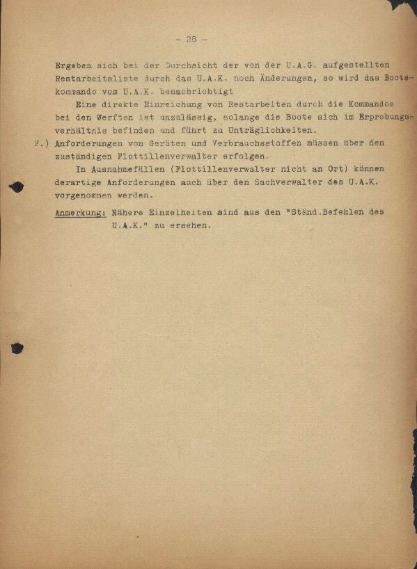 Guide for U-Boat Officers Concerning New U-Boat Orders for the Frontline - page 28