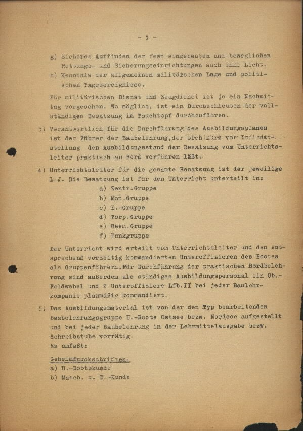 Guide for U-Boat Officers Concerning New U-Boat Orders for the Frontline - page 5