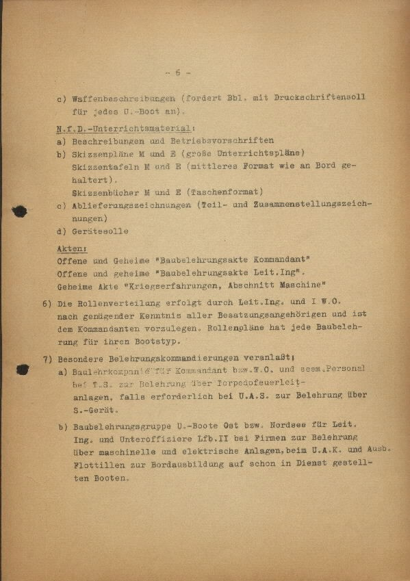 Guide for U-Boat Officers Concerning New U-Boat Orders for the Frontline - page 6