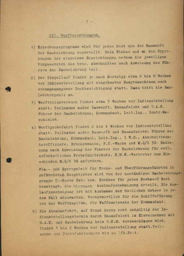 Guide for U-Boat Officers Concerning New U-Boat Orders for the Frontline - page 7