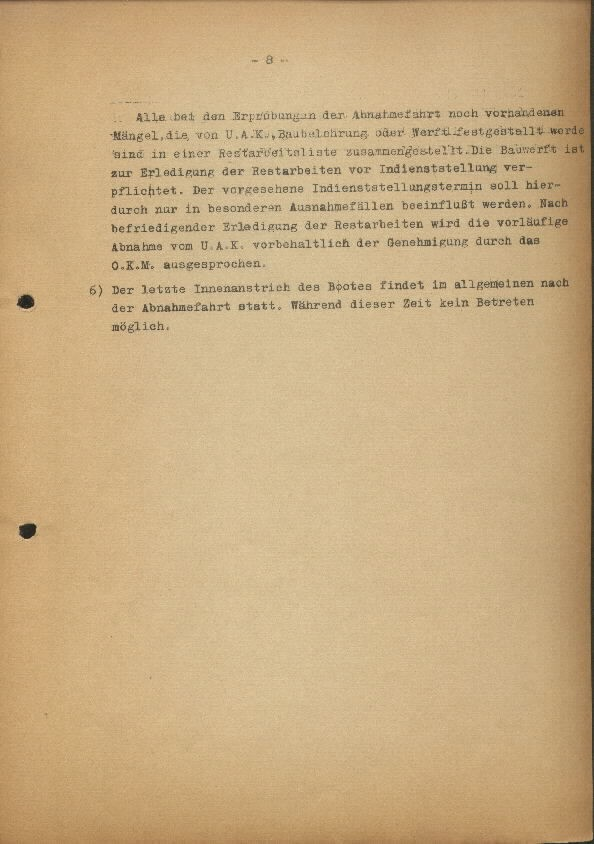 Guide for U-Boat Officers Concerning New U-Boat Orders for the Frontline - page 8