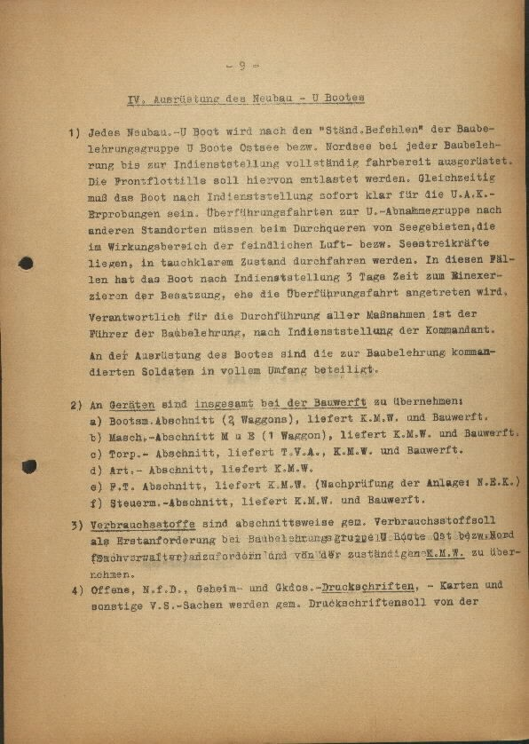 Guide for U-Boat Officers Concerning New U-Boat Orders for the Frontline - page 9