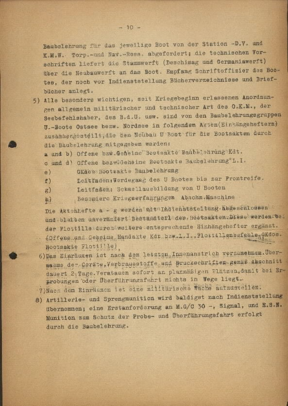Guide for U-Boat Officers Concerning New U-Boat Orders for the Frontline - page 10