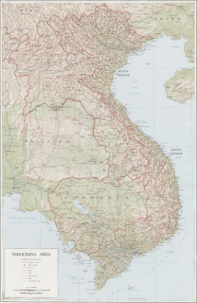 Indochina Area - Map