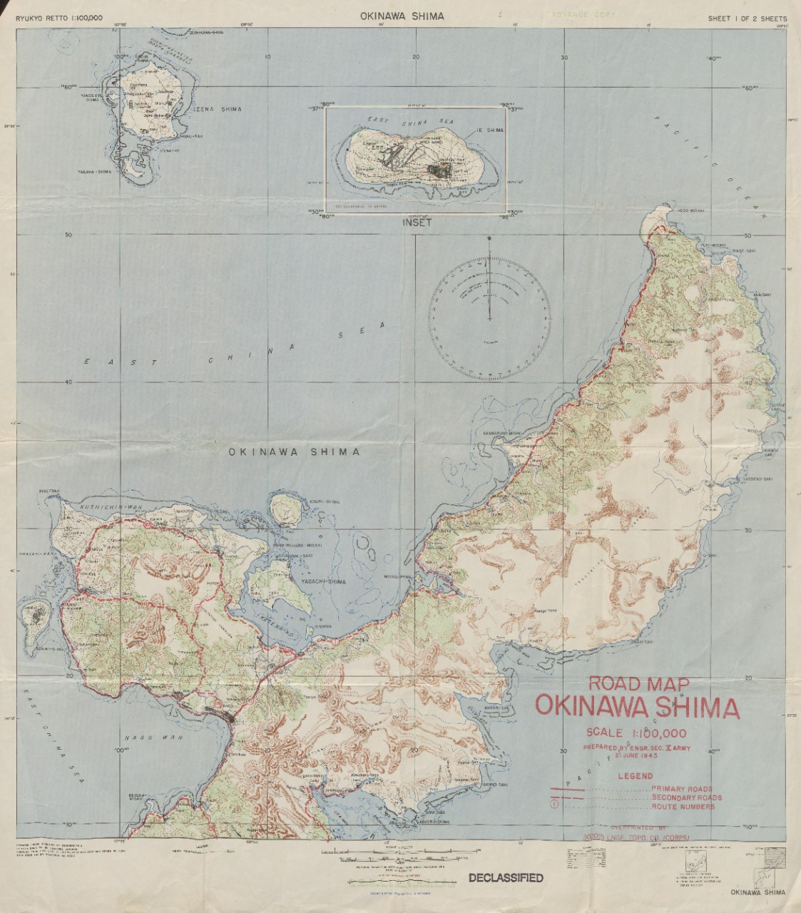 Okinawa Shima Road Map (1 of 2)