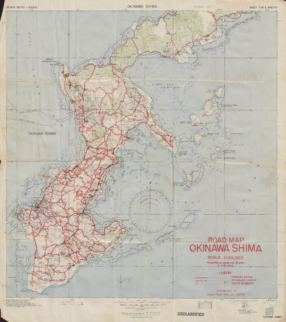 Okinawa Shima Road Map (2 of 2)