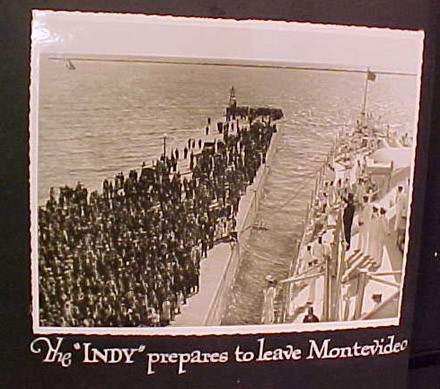 "The ""INDY"" prepares to leave Montevideo"