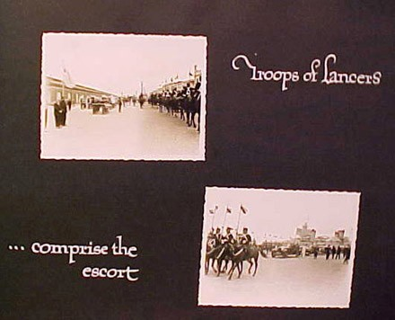 (Left) Troops of Lancers (Right) ...comprise the escort