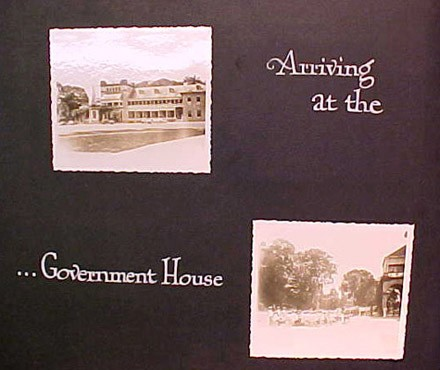 (Left) Arriving at the (Right) ...Government House