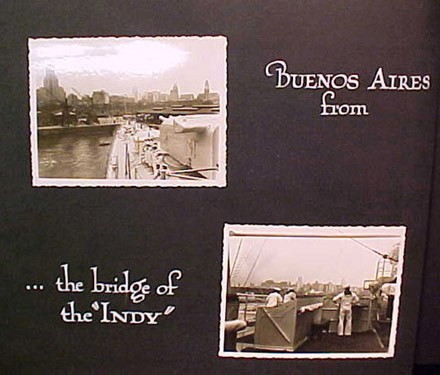 "(Left) Buenos Aires from (Right) ...the bridge of the ""INDY"""