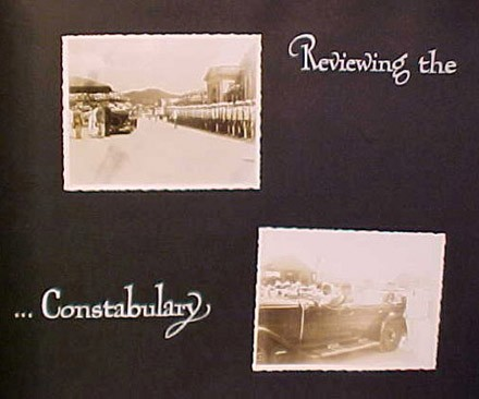 (Left) Reviewing the (Right) ...Constabulary