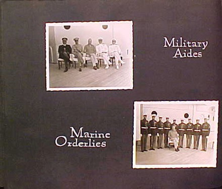 (Left) Military Aides, (Right) Marine Orderlies