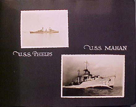 (Left) USS Phelps, (Right) USS Mahan