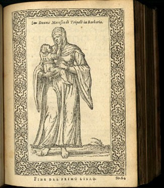 Image of page 64, caption: Donna Morescali Tripoli in Barbaria [woman with child].