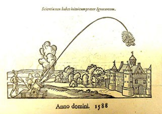 Image at bottom of title page of appendix; caption: Scientia non habet inimicum prater Ignorantem.