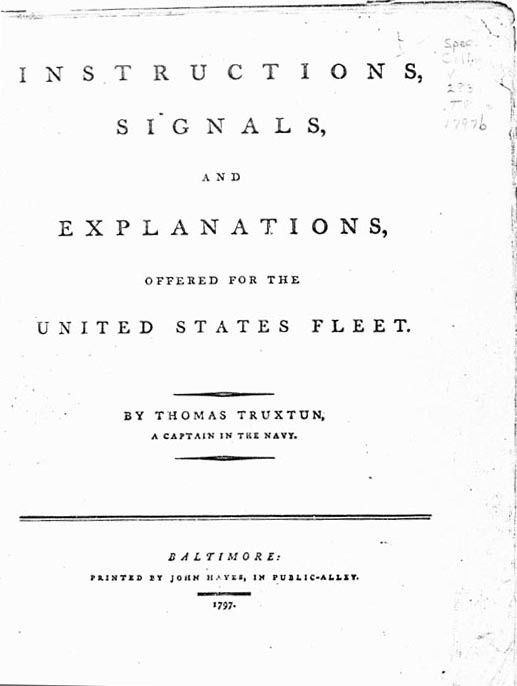 Truxtun Signal Book title page