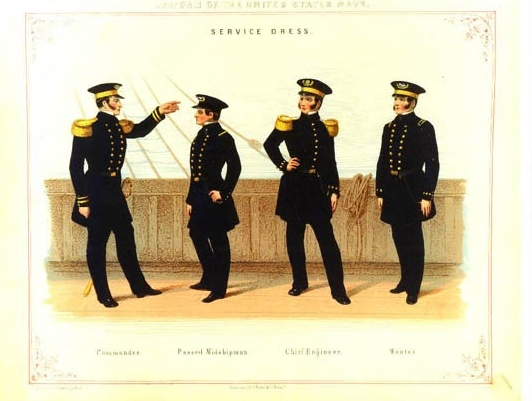 Plate from Regulations for the uniform & dress of the Navy and Marine Corps of the United States