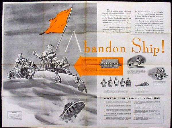 "Image of Newsmap - ""Abandon Ship!,"" side 2."