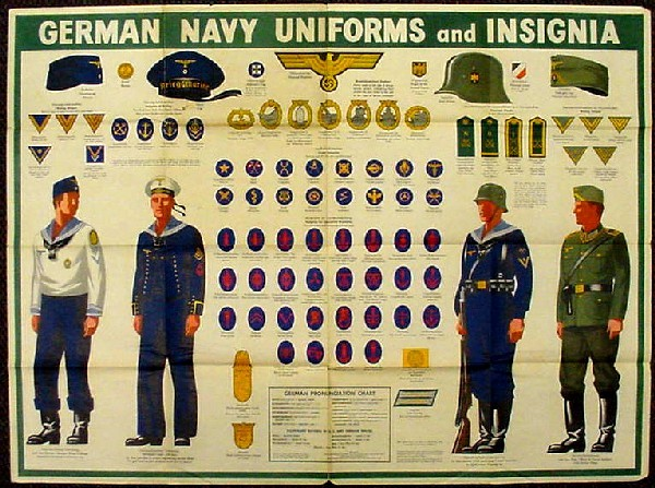 "Image of Newsmap - ""German Navy Uniforms & Insignia,"" side 2."