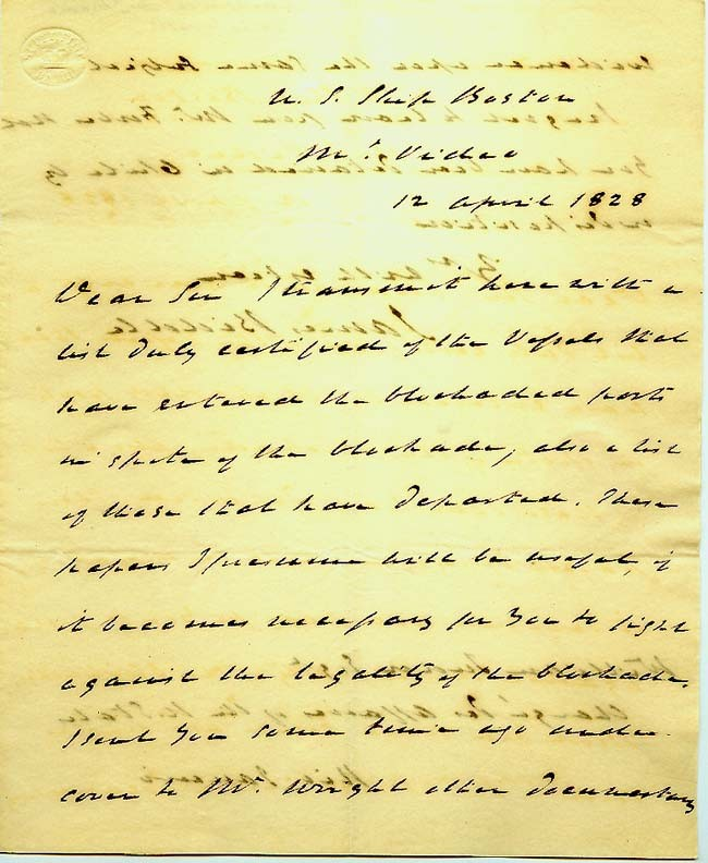 "Large image - first page of typed manuscript, ""Naval Yarns."""