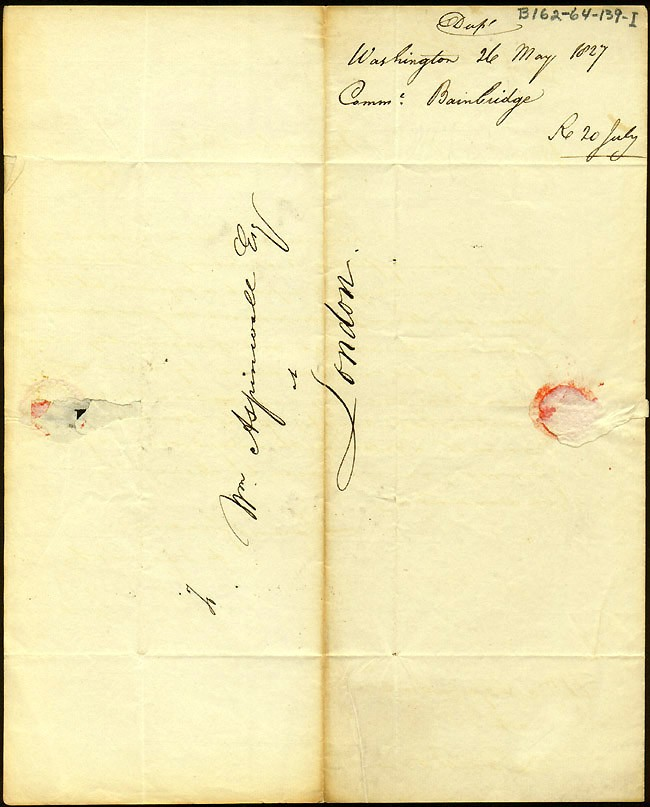 Image of LS dated 26 May 1827, Washington City, page 2.