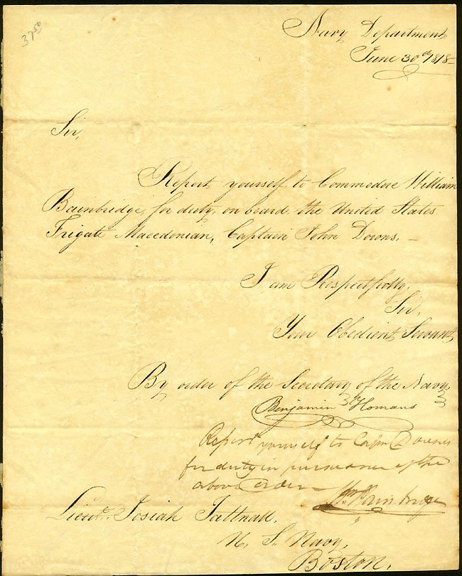 Image of DS dated 30 June 1818, page 1.