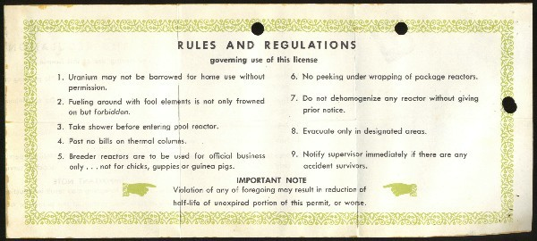 Image of reverse side of license.