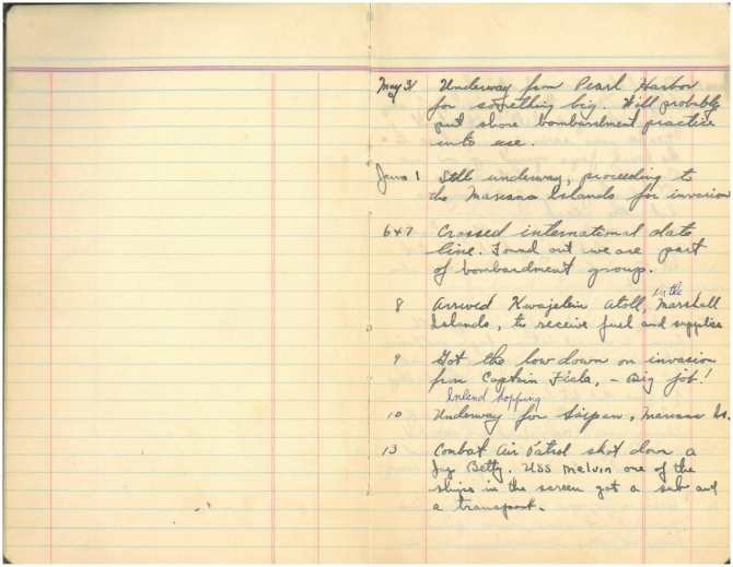 Diary of Joseph A. Beatty, page 1. Transcription below.