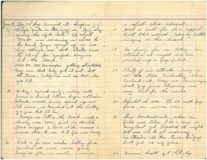 Diary of Joseph A. Beatty page 2. Transcription below.