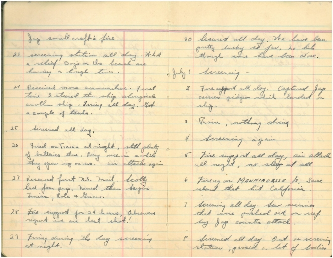 Diary of Joseph A. Beatty page 3. Transcription below.