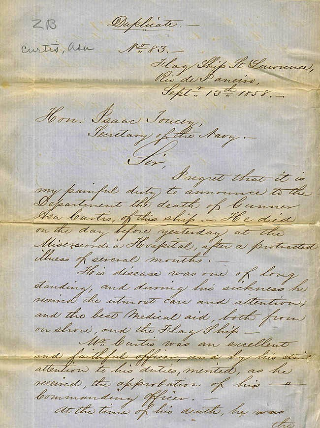 Letter dated 13 September 1858 [Page 1]