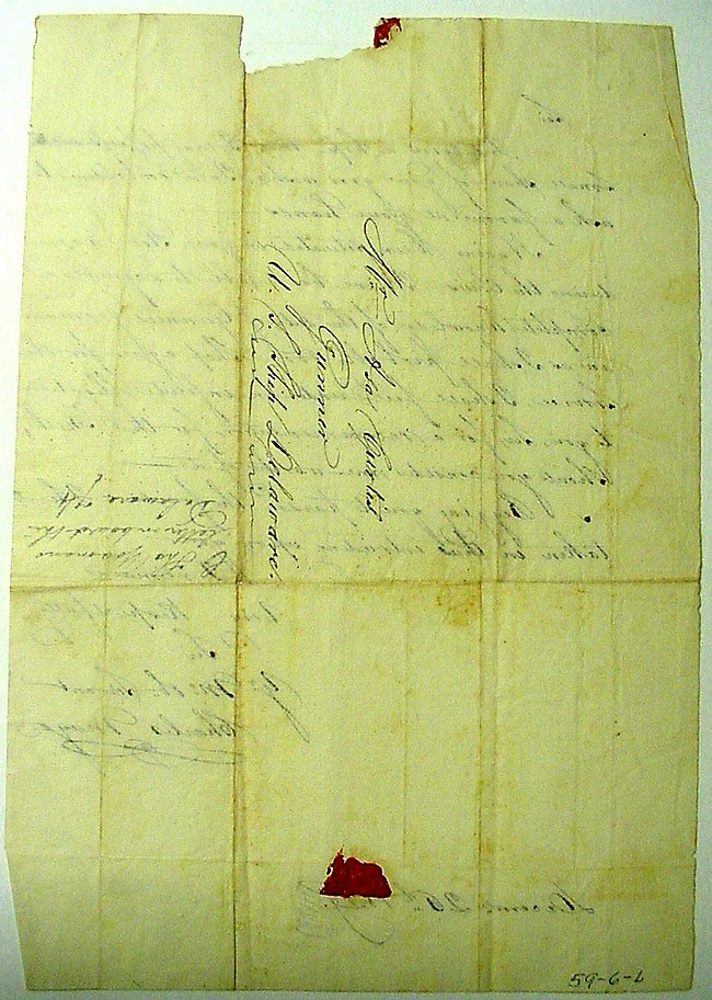 Image of Letter dated 26 December 1829 to Asa Curtis from Charles Mayo [Page 2]