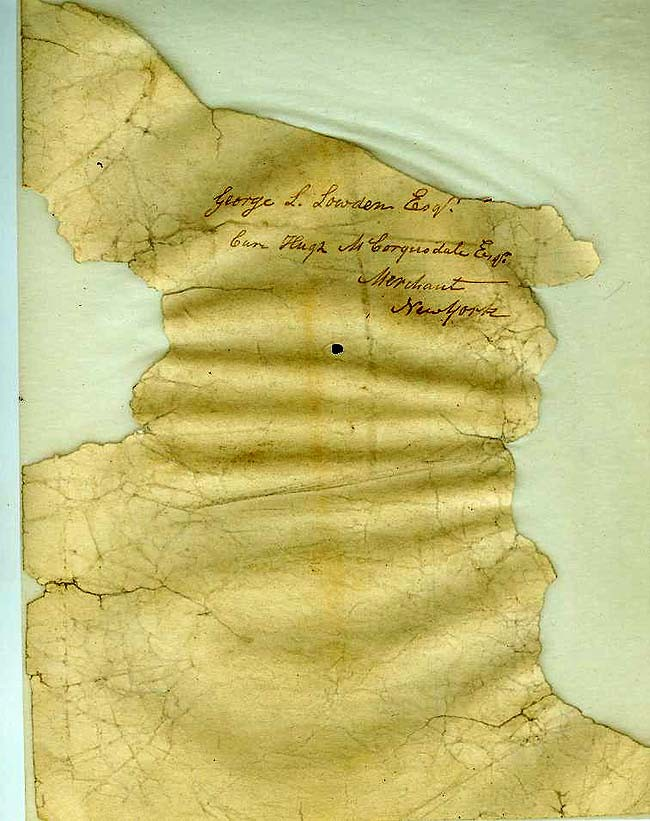 "Image of a fragment of ""Account Current with the Chevalier Paul Jones"". (verso)"