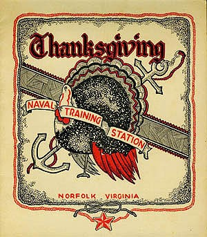 Cover - Thanksgiving Dinner, Naval Training Station, Norfolk, Virginia, 1945.