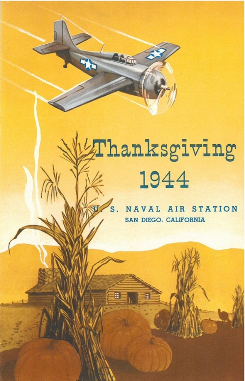 1944 Thanksgiving menu - US Naval Air Station, San Diego, California - cover