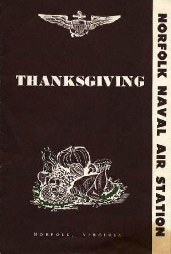 Cover - Thanksgiving Dinner, Naval Air Station, Norfolk, Virginia, 1959.