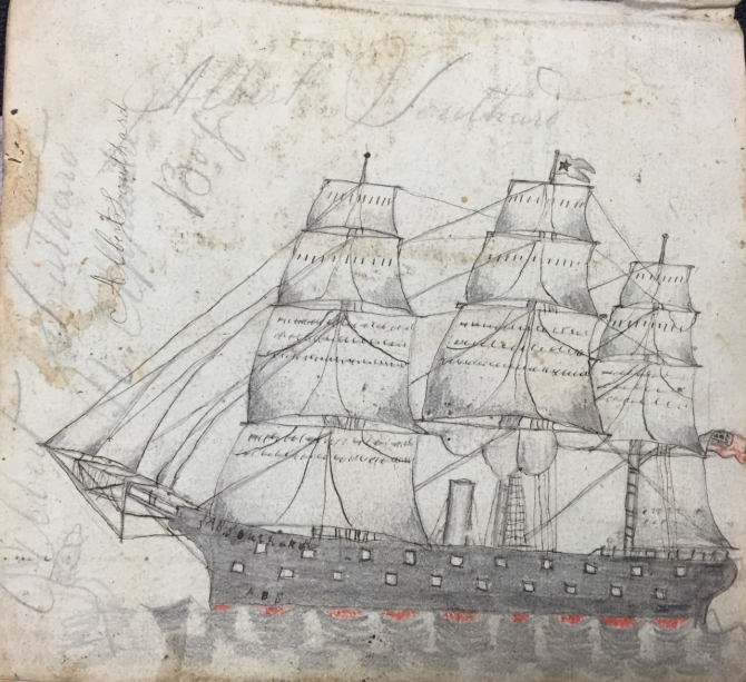 Albert Southard Ship Drawing